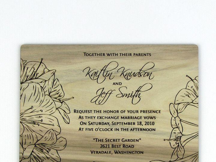 Tmx 1435887755378 Wooden Invitation Red Gum 3 Spokane, WA wedding invitation