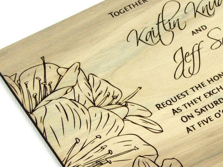 Tmx 1435887760337 Wooden Invitation Red Gum 5 Spokane, WA wedding invitation
