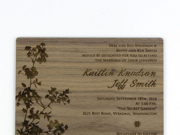 Tmx 1435887805458 Modern Blossom Invitation Walnut 3 Spokane, WA wedding invitation