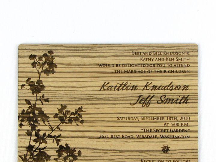 Tmx 1435887846781 Modern Blossom Invitation Zebrawood 1 Spokane, WA wedding invitation
