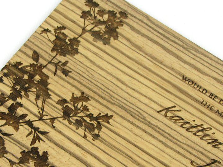 Tmx 1435887852148 Modern Blossom Invitation Zebrawood 4 Spokane, WA wedding invitation