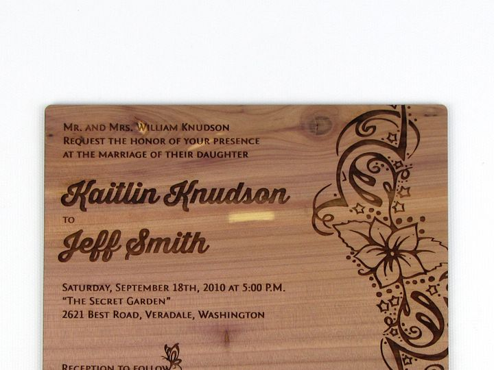 Tmx 1435887858781 Wooden Invitation Aromatic Cedar 3 Spokane, WA wedding invitation