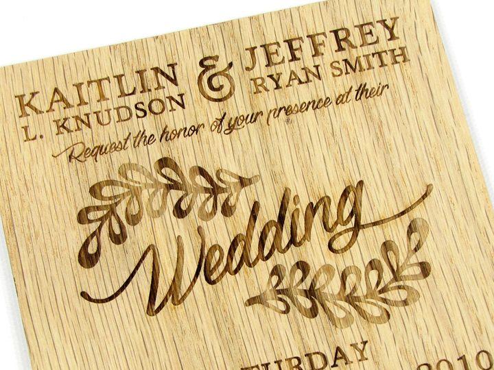Tmx 1435887920102 Rustic Leaf Invitation Red Oak 5 Spokane, WA wedding invitation