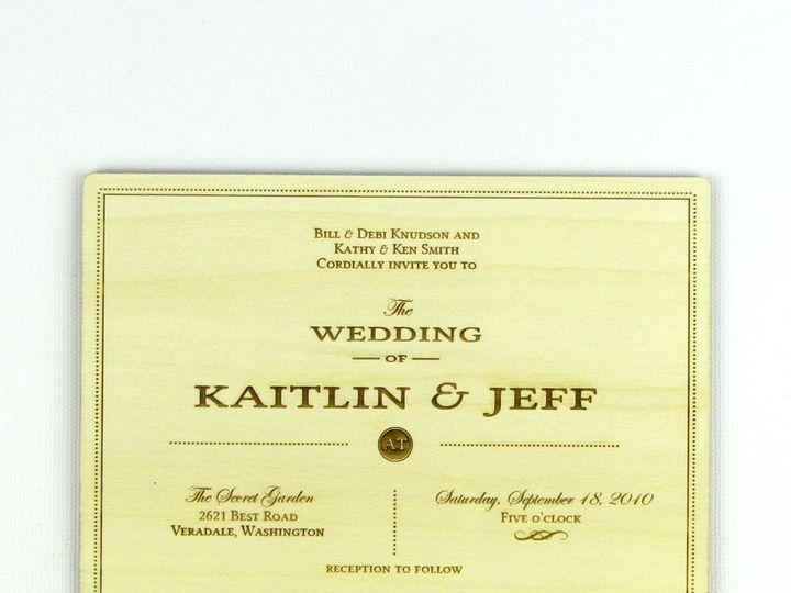 Tmx 1435887946318 Understated Traditional Invitation Aspen 1 Spokane, WA wedding invitation
