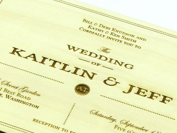 Tmx 1435887952207 Understated Traditional Invitation Aspen 4 Spokane, WA wedding invitation