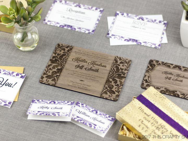 Tmx 1498507748585 Elegant Damask Full Suite 3 Spokane, WA wedding invitation