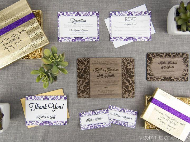Tmx 1498507749974 Elegant Damask Full Suite 2 Spokane, WA wedding invitation