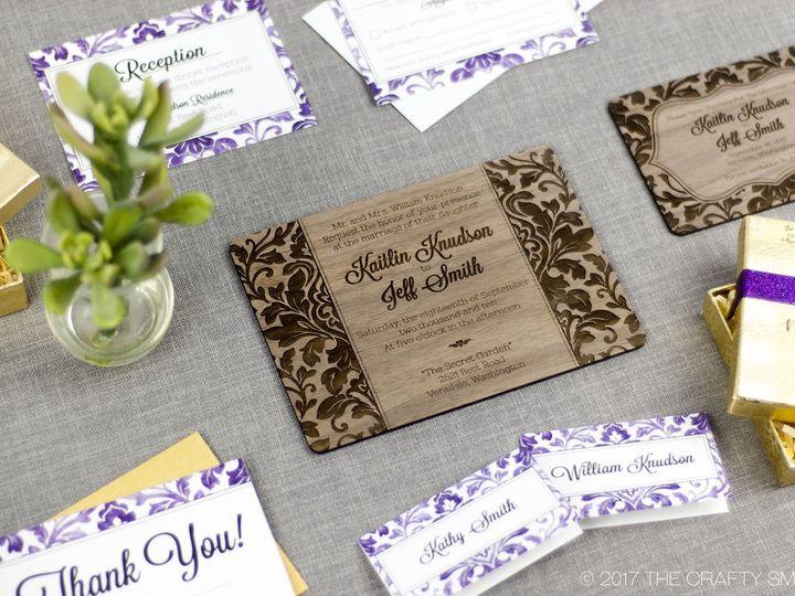 Tmx 1498507760659 Elegant Damask Full Suite 4 Spokane, WA wedding invitation