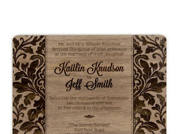 Tmx 1498507770237 Elegant Damask Invitation Walnut 2 Spokane, WA wedding invitation