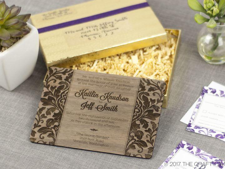 Tmx 1498507789225 Elegant Damask Invitation Walnut 4 Spokane, WA wedding invitation