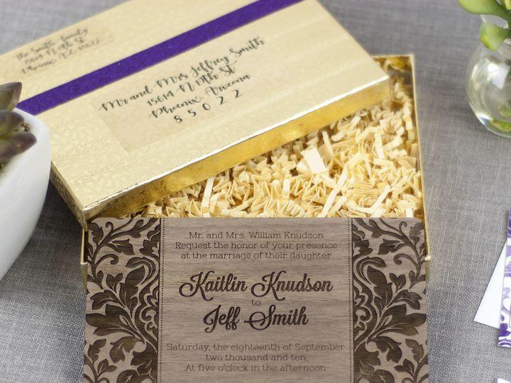 Tmx 1498507799112 Elegant Damask Invitation Walnut 5 Spokane, WA wedding invitation