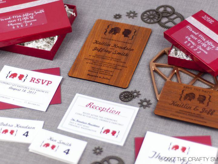 Tmx 1498507818545 Facial Silhouettes Full Suite 3 Spokane, WA wedding invitation