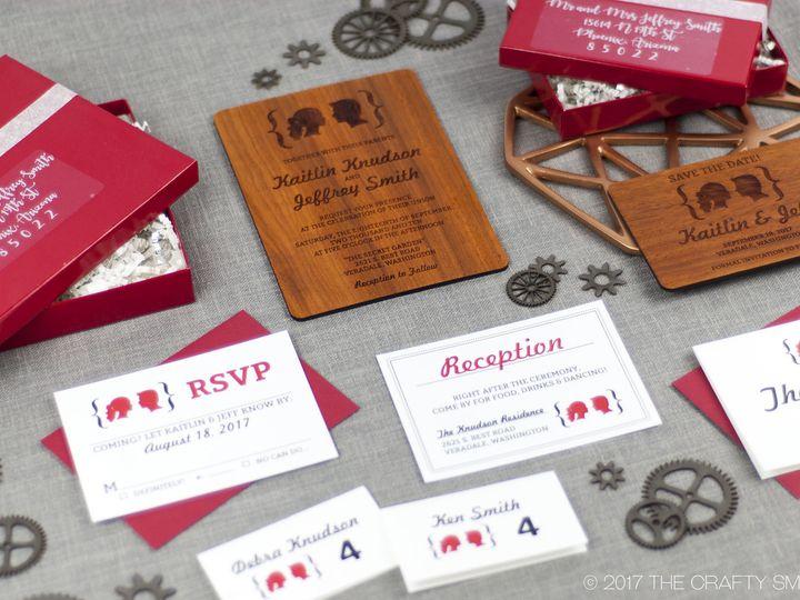 Tmx 1498507827323 Facial Silhouettes Full Suite 7 Spokane, WA wedding invitation