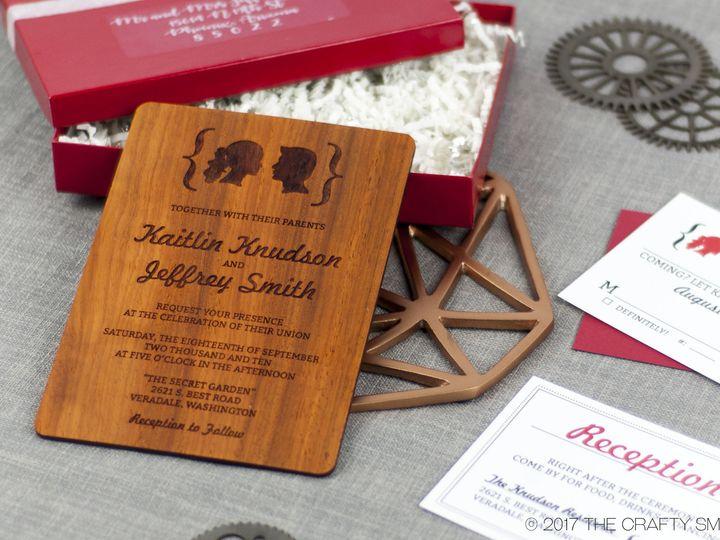 Tmx 1498507847032 Facial Silhouettes Invitation Padauk 3 Spokane, WA wedding invitation