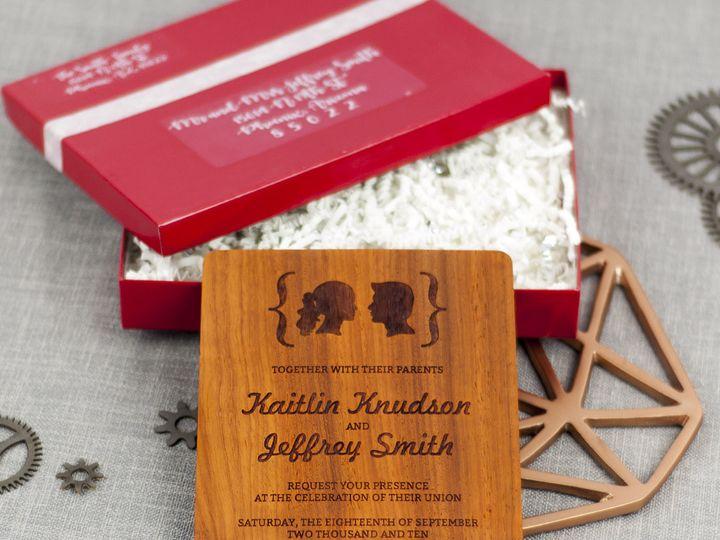Tmx 1498507874654 Facial Silhouettes Invitation Padauk 6 Spokane, WA wedding invitation