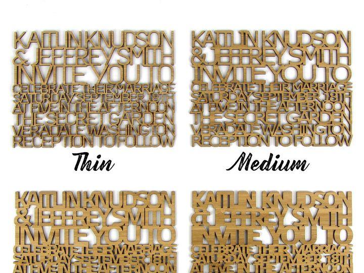 Tmx 1498508006843 Freecut Font Sizes 1 Spokane, WA wedding invitation