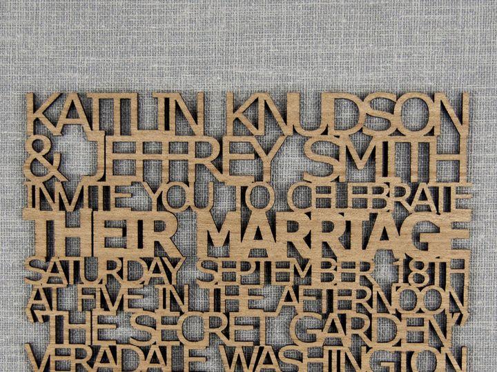 Tmx 1498508167908 Freecut Invitation Mahogany 1 Spokane, WA wedding invitation