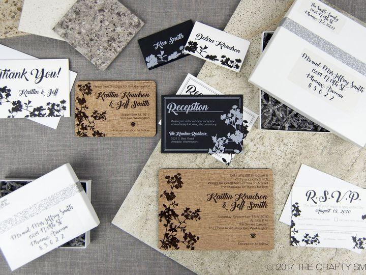 Tmx 1498508239940 Modern Blossom Full Suite 1 Spokane, WA wedding invitation