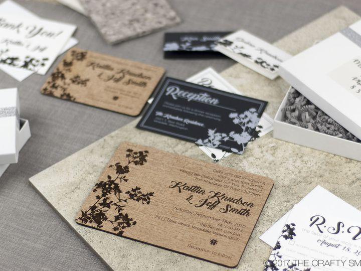 Tmx 1498508252279 Modern Blossom Full Suite 2 Spokane, WA wedding invitation