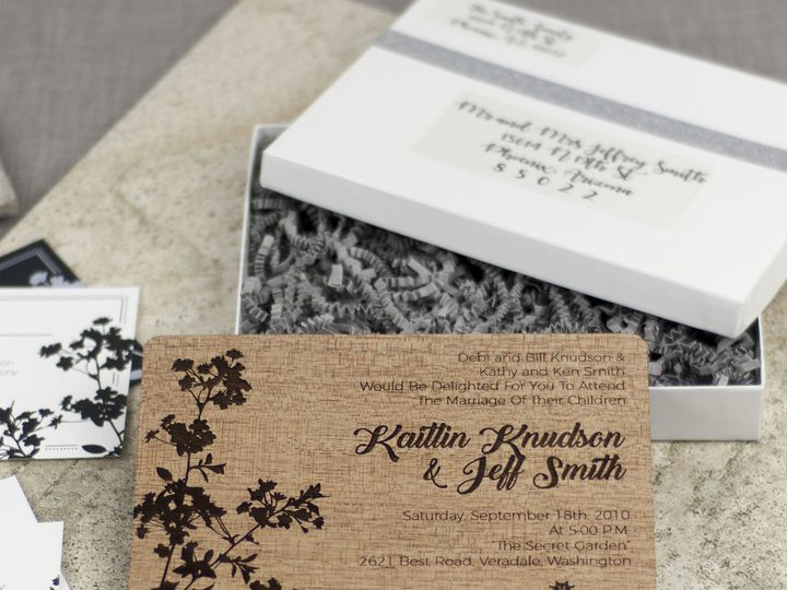 Tmx 1498508272811 Modern Blossom Invitation Mahogany 1 Spokane, WA wedding invitation