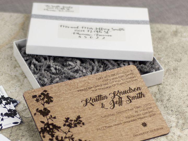 Tmx 1498508282396 Modern Blossom Invitation Mahogany 2 Spokane, WA wedding invitation