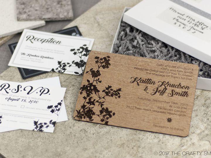 Tmx 1498508292015 Modern Blossom Invitation Mahogany 3 Spokane, WA wedding invitation