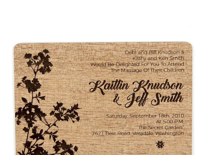 Tmx 1498508302417 Modern Blossom Invitation Mahogany 4 Spokane, WA wedding invitation