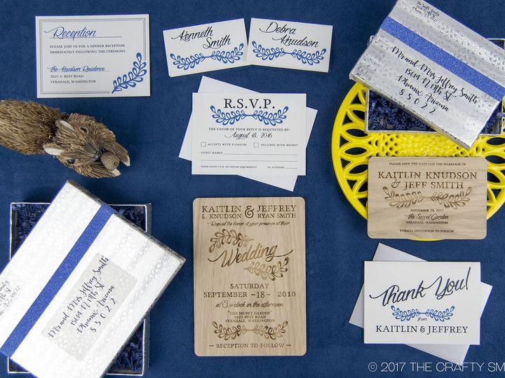 Tmx 1498508314708 Rustic Leaf Full Suite 2 Spokane, WA wedding invitation