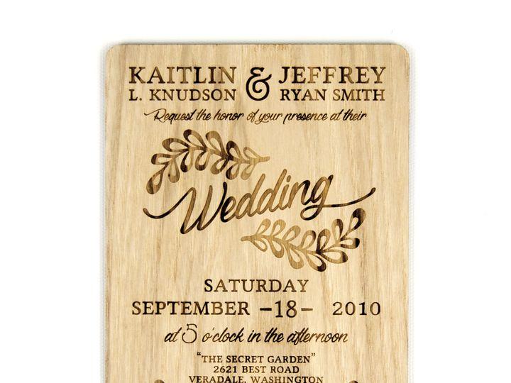 Tmx 1498508342149 Rustic Leaf Invitation Ash 2 Spokane, WA wedding invitation