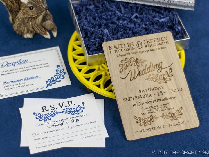 Tmx 1498508351758 Rustic Leaf Invitation Ash 4 Spokane, WA wedding invitation