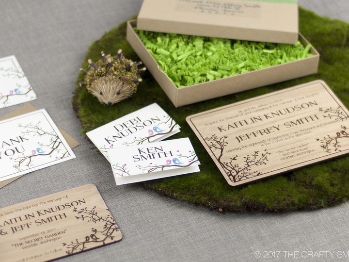 Tmx 1498508392065 Simple Love Birds Full Suite 6 Spokane, WA wedding invitation