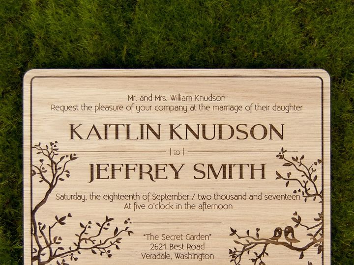 Tmx 1498508414637 Simple Love Birds Invitation Lyptus 1 Spokane, WA wedding invitation
