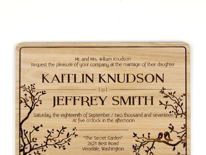 Tmx 1498508423944 Simple Love Birds Invitation Lyptus 2 Spokane, WA wedding invitation