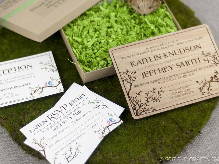 Tmx 1498508457328 Simple Love Birds Invitation Lyptus 5 Spokane, WA wedding invitation