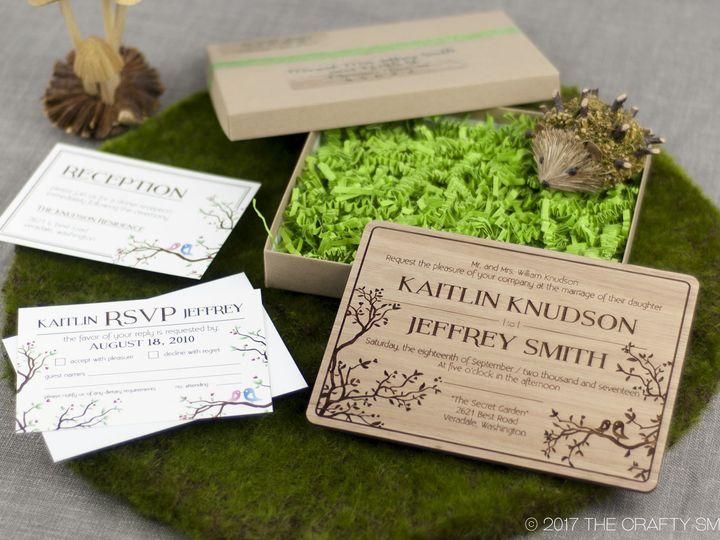 Tmx 1498508469297 Simple Love Birds Invitation Lyptus 6 Spokane, WA wedding invitation