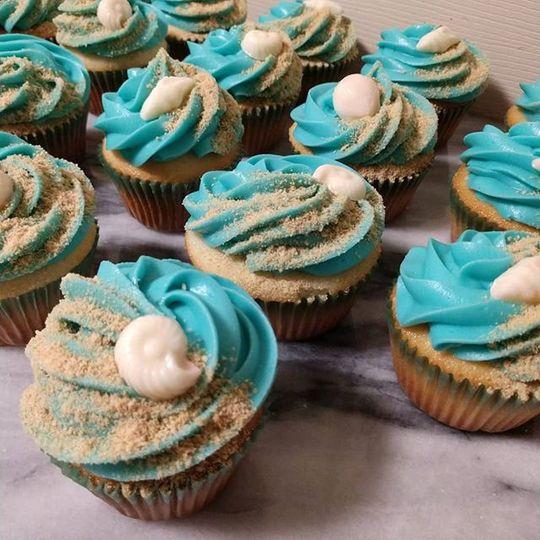 Ocean cupcakes