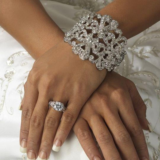 new vintage style glam rhinestone bridal cuff brac