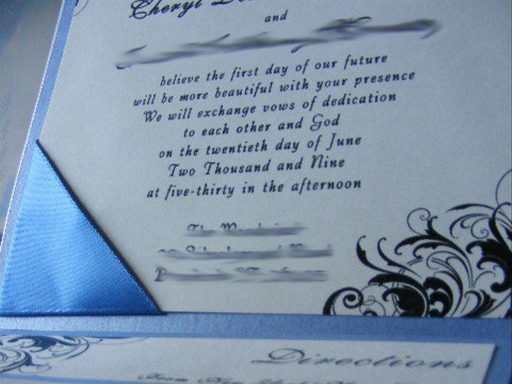 Tmx 1408753938681 Ribboncorners Hammond wedding invitation
