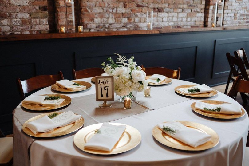 Tablescape at Mercantile Hall