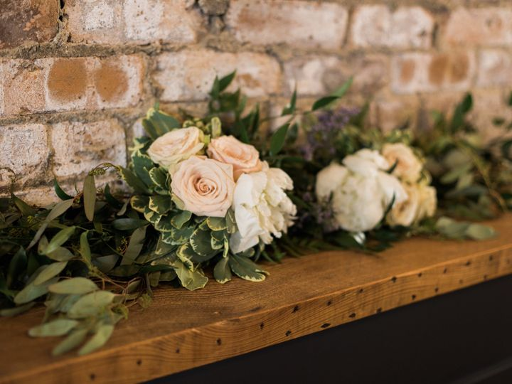 Tmx 1505501189447 Brick Wall Ledge Florals At Mercantile Hall Burlington, Wisconsin wedding venue