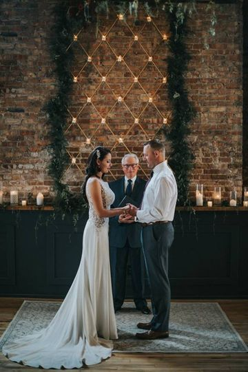 Exchanging Vows at Merc Hall