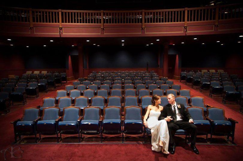 Bridal Portrait in the Crest Theatre