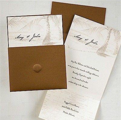 sea shell destination wedding invitation