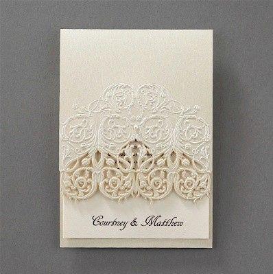vision of love wedding invitation