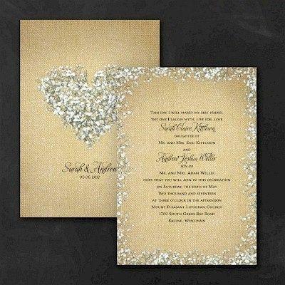 burlap blossoms wedding invitation