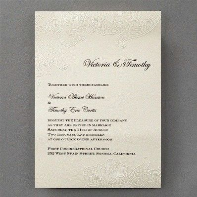 Tmx 1467818505748 Embossed Lace Wedding Invitation Dubuque wedding invitation