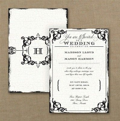Tmx 1467818538225 Antique Filigree Frame Wedding Invitation Dubuque wedding invitation