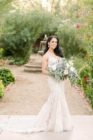 Bursting bridal bouquet