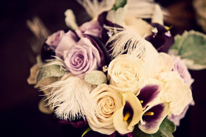 flowers with feathers