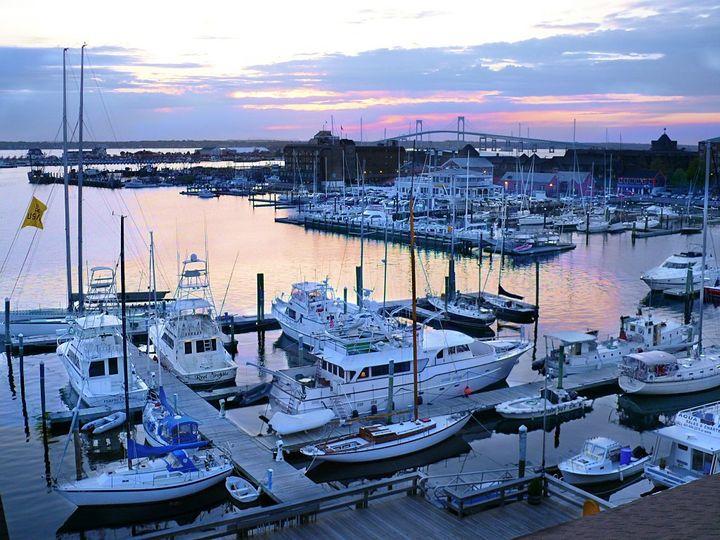 Tmx 1394589380386 Newport Harbor Marina With Newport Bridge Sunse Newport, RI wedding venue